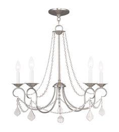 Livex 6515 91 Pennington 5 Light 25 inch Brushed Nickel Chandelier Ceiling  Light8 Light Candle Chandelier   Candle chandelier  Lighting and Savannah. Progress Lighting Savannah Chandelier. Home Design Ideas