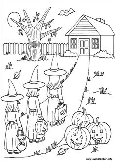 Printable Halloween Coloring Pages - Free Coloring Sheets Halloween Coloring Pictures, Free Halloween Coloring Pages, Fall Coloring Pages, Halloween Pictures, Coloring Pages For Kids, Coloring Books, Kids Coloring, Colouring, Halloween Crafts For Toddlers
