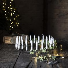 Advent candle-holder centrepiece in matte black metal. From Natural Bed Company. Grey Candles, Taper Candles, Christmas Bedroom, Christmas Decor, Black Candle Holders, Bed Company, Advent Candles, Scandi Style, Christmas Centerpieces