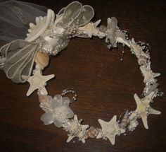 Beach Wedding Bridal Headpiece with Starfish by artseero on Etsy, $45.00