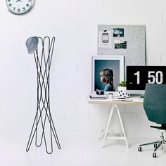 The Bloom coat stand is a component of the Bloom collection by Keith Melbourne. Featuring a wire frame powdercoat to black or white the coat stand offers a practical and attractive storage solution for commercial or domestic environments. Coat Stands, Wire Pendant, Storage Solutions, The Hamptons, Floor Lamp, Bloom, Melbourne, Home Decor, Accessories