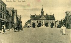 Osterode in Ostpreußen - Neuer Markt um 1915.