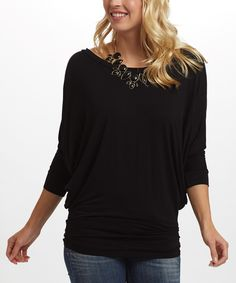 Look at this Black Dolman Top on #zulily today!
