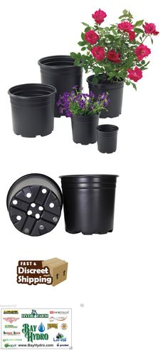 Baskets Pots and Window Boxes 20518: 1,2,3, 5 Gal Trade Sz High Quality Pro-Cal Black Plastic Nursery Container Pot -> BUY IT NOW ONLY: $61.95 on eBay!