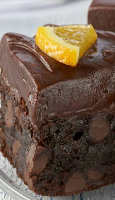 Orange Kissed Chocolate Brownies