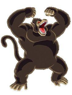 El Ōzaru (gran mono) es una transformación que sólo la pueden realizar los pertenecientes a la raza Saiyajin (incluyendo híbridos). Es la habilidad que tienen los Saiyajin para convertirse en un mono gigante (excepto aquellos que carecen de cola) al momento de exponerse a la luz de la Luna llena.