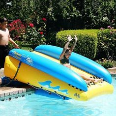 Water Slides And Inflatable Pools For The Summer Toddler Pool Floats, Pool Rafts, Lake Rafts, Pool Water Slide, Pool Fun, Summer Pool, Swimming Pool Toys, Backyard Trampoline, Pool Floats