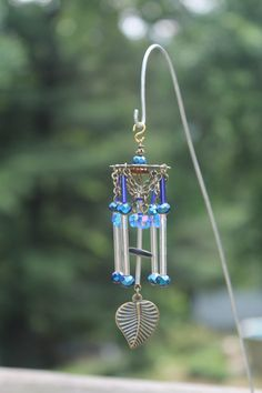 Miniature Fairy Garden Wind Chime, Dollhouse Windchime, Mini Garden Accessory