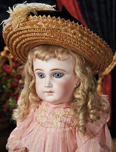 Very Beautiful French Bisque Bebe in Fine Antique Costume by Schmitt et Fils. Lot # 319.