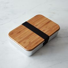 Aluminium & bamboo bento box