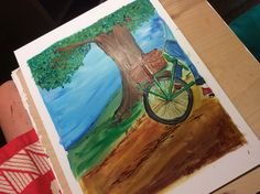 Bike-nic from 'How to Become a Professional Picnicker #howtobecomeaprofessionalpicnicker #jesswatsonartist