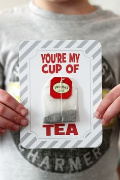 You're My Cup of Tea Valentine Printable on Crafted by Lindy pinned by Jaime Wood. I love this for anytime you need to tell a special person they are loved. AFS ;-)