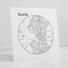 Seattle Letterpress Print