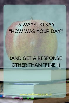 You ask it everyday after school, and pretty much always get a one word response. But you know there's more - and you want to hear about it! Have a read of these and see if you can get the conversation flowing.