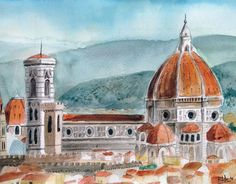 """Check out new work on my @Behance portfolio: """"Watercolor - Firenze"""" http://be.net/gallery/34030918/Watercolor-Firenze"""