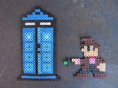 :: bichinhos na cabeça :: crafting + creating + loving: PIXEL ART: DR. WHO + TARDIS