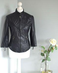 790672944f59 MISS SELFRIDGE Black genuine leather braid biker jacket UK 10 #fashion # clothing #shoes