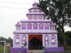 Durga Puja 2013 Pics in Asansol, Burnpur and Durgapur Wedding Stage Design, Wedding Stage Decorations, Decoration Pictures, Decorating With Pictures, Durga Puja Kolkata, Gate Decoration, Flower Garland Wedding, Ganapati Decoration, Ganesh Lord
