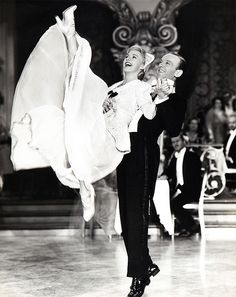 """Ginger Rogers & Fred Astaire in """"The Story of Vernon and Irene Castle"""" - 1939 Old Hollywood Glamour, Golden Age Of Hollywood, Vintage Hollywood, Hollywood Stars, Classic Hollywood, Ginger Rogers, Fred Astaire, Tap Dance, Ballroom Dance"""