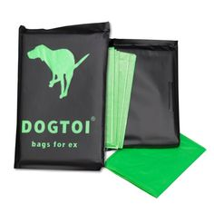 Dogtoi, der Kotbeutel für ein gutes Gewissen, biologisch abbaubar - 100% wasserlöslich  und umweltfreundlich - unterwegs - Für den Hund - www.romneys.de