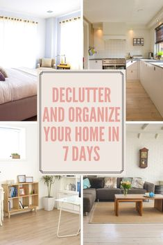 Declutter and Organize Your Home in 7 Days!   Try this 7 day challenge to organize your home whether it's time for spring cleaning, holiday decluttering, or just for the heck of it! If you don't have time to tackle a room for seven days in a row you can always try 7 weeks instead!...