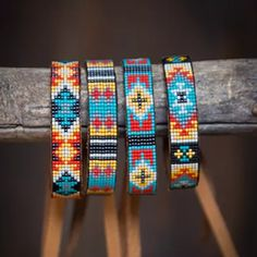 At Busted K, we believe in creating high quality, hand made beaded belts, beaded tack and jewelry. Loom Bracelet Patterns, Bead Loom Bracelets, Bead Loom Patterns, Seed Bead Jewelry, Beaded Jewelry, Beaded Headbands, Beaded Belts, Native Beading Patterns, Native American Beadwork