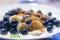 BBCN unveiled: Banana - Blueberry - Creamy Nut sauce receipe. Simple and good.  This one is magic: Banana. Sliced. Blueberries. Activated oats. Nut cream: One cup (soaked) cashews, one cup water. 3 dates, 1tsp linseed oil, Vitamix or similar to have a creamy texture. Cinnamon powder.  You will love it!  #vegan #healthy #sugarfree #glutenfree #rawfoodblog