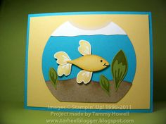 Stampin' Up!  Blossom Petals Punch  Tammy Howell  Fish Bowl