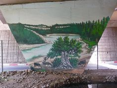 Mural painting -    Recurrent theme of goats on argan tree...