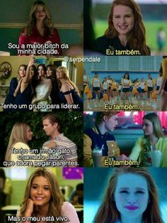 Alison Dilautents a rainha de rowseood e Cheryl Blossom a rainha de riverdale Riverdale Funny, Riverdale Memes, Prety Little Liars, Pll Memes, Betty And Veronica, Cheryl Blossom, Kids On The Block, Best Shows Ever, Jokes