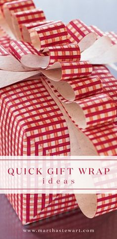 Quick Gift Wrap Ideas | Martha Stewart Living - These creative Christmas gift-wrapping shortcuts will help you save both time and money so you can focus on fully enjoying the holiday season.