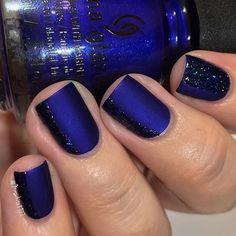 Blue mani by @mrswhite8906
