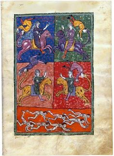 Sixth Trumpet: The Army Of Horsemen Over Lion-Headed Horses | Fol. 94 | The Morgan Library & Museum