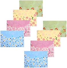 Folders Wallet Floral Printed Letter Size Document Organizer Booklet File Paper Folders with Snap Button, Filing Papers, Paper Folder, Letter Size, Booklet, School Stuff, A4, Floral Prints, Organization, Lettering