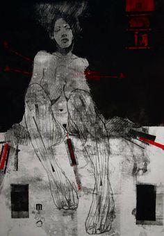"""Saatchi Art Artist Michael Lentz; Drawing, """"NUDE No. 3019, 100 x 70 cm"""" #art"""