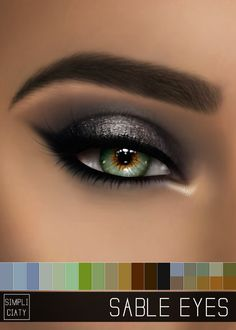 SABLE EYES Simpliciaty 18 Colors; HQ mod compatible; Face paint category