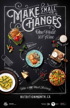 food design Celebrate Nutrition Month - Make Small Changes, One Meal At A time Food Graphic Design, Food Menu Design, Food Poster Design, Restaurant Menu Design, Restaurant Poster, Flyer Design, Food Banner, Nutrition Month, Gastronomia