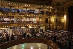 This former theater turned bookstore in Buenos Aires: | The 30 Best Places To Be If You Love Books