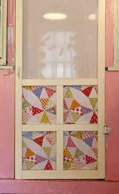 screen door, from: jerusalem greer - the adventures of jolly goode gal: cottage style in the house Old Screen Doors, Craft Room, Decor, Screen Door, Decorating Your Home, Old Doors, Shabby, Doors, Cottage Style