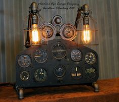 Vintage World War II Military Aircraft  Instrument Control Panel Lamp CC #38