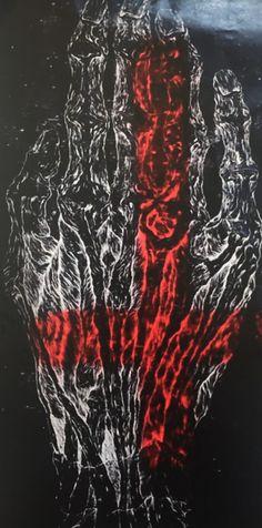 Presentation of artist Albinus Grammar. Expressionist painter and woodcut print master. Grammar, Tatoos, Darth Vader, Abstract, Artist, Artwork, Fictional Characters, Summary, Work Of Art