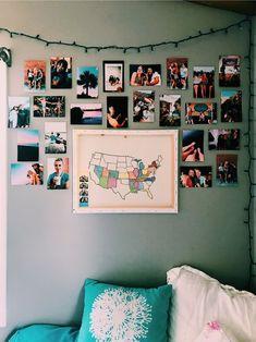 Best College Bedroom Decoration – My Life Spot Diy Room Decor, Bedroom Decor, Bedroom Inspo, Bedroom Ideas Pinterest, Photowall Ideas, Cute Room Ideas, College Dorm Rooms, Dream Rooms, Cool Rooms