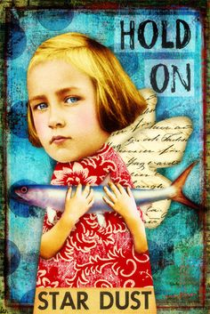 Hold On by Tumble Fish Studio, via Flickr using her kits and Hidden Vintage Studio kits at MischiefCircus.com #digitalcollage #collage