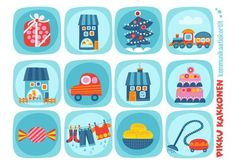 Kommunikaatiokortit | lapset | perhe | koti | arki | kalenteri | askartelu | paperi | paper | DIY ideas | communication | communication card | kid crafts | Pikku Kakkonen | yle.fi/lapset