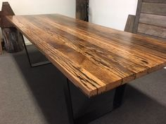 Nullarbor Sustainable Timber offers a range of finely crafted, designer timber tables. Recycled Timber Furniture, Timber Table, Sustainability, Recycling, Decking, Woodworking, Melbourne, Dining Tables, Vegetarian Recipes