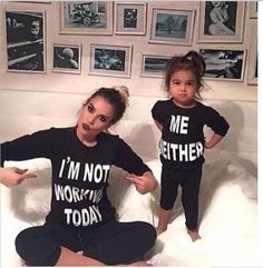 2017 Family Matching clothes long sleeve matching Outfit Mommy daughter cotton clothes