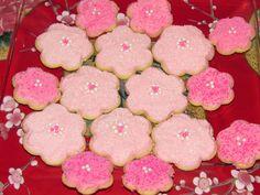 Cherry blossom sugar cookies