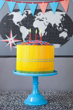How about a pencil cake for the Teacher-See how it's done!