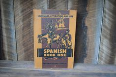 Spanish One Book from 1944 by NewFoundVintiques on Etsy
