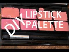 Who hasn't run low on their favorite lipstick.  Great idea to make it easier to use & to create custom colors